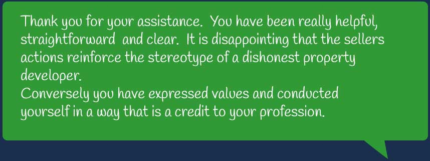 Griffith Smith Conway Domestic Conveyancing Testimonial